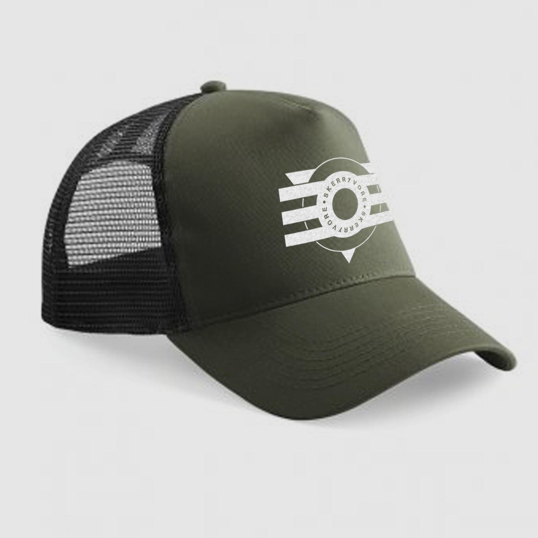 82e1e2b334b08 TRUCKER CAP – OLIVE BLACK